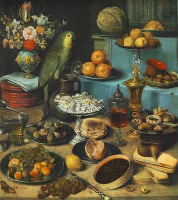Georg Flegel, Nature Morte au perroquet